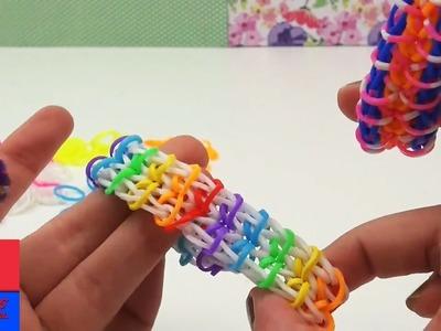 Comment faire un bracelet loom en chaîne Zippy. Instructions avec fourchettes. Sans tablette