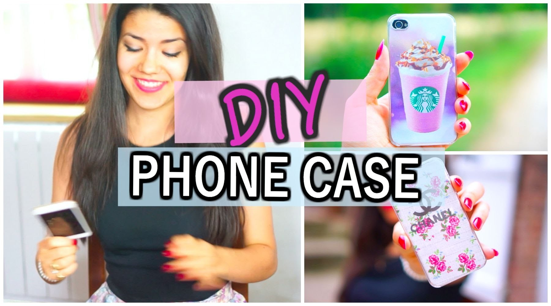 DIY PHONE CASE (Chanel, Starbucks, and more. )