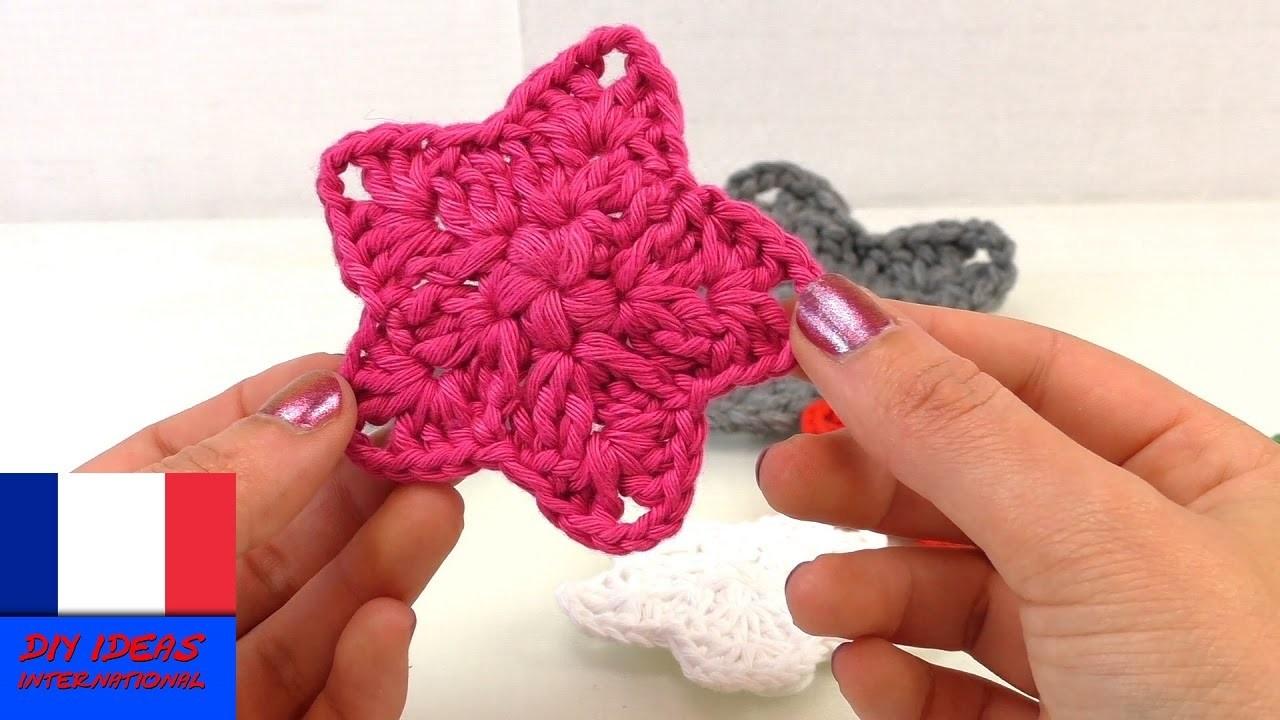 Faire du crochet – Etoile effet gravure | Guide simple pour tricoter une étoile | Décoration de Noël
