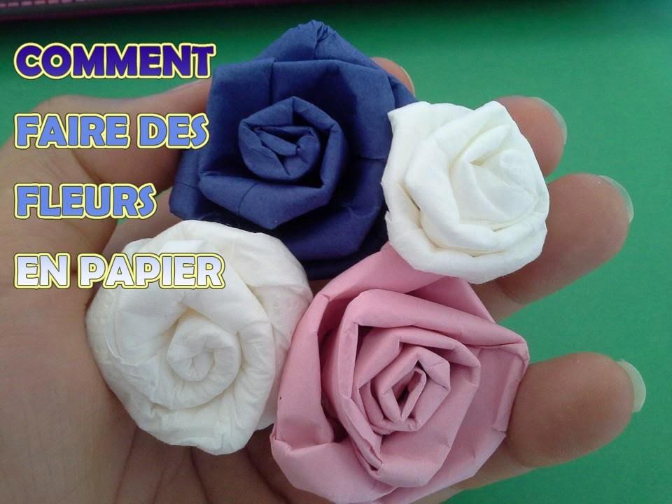 How To Make an Origami Rose كيفية عمل وردة بالورق