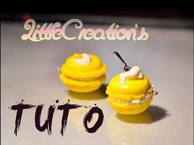 Polymer clay : macaron au Citron