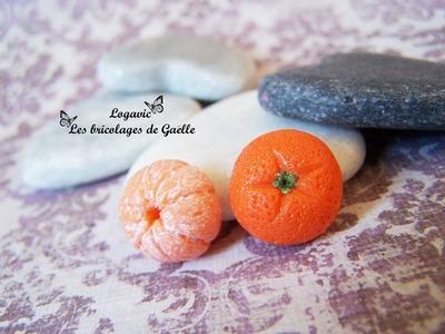 Tuto Boucles fimo Orange - Polymer Orange Earrings tutorial