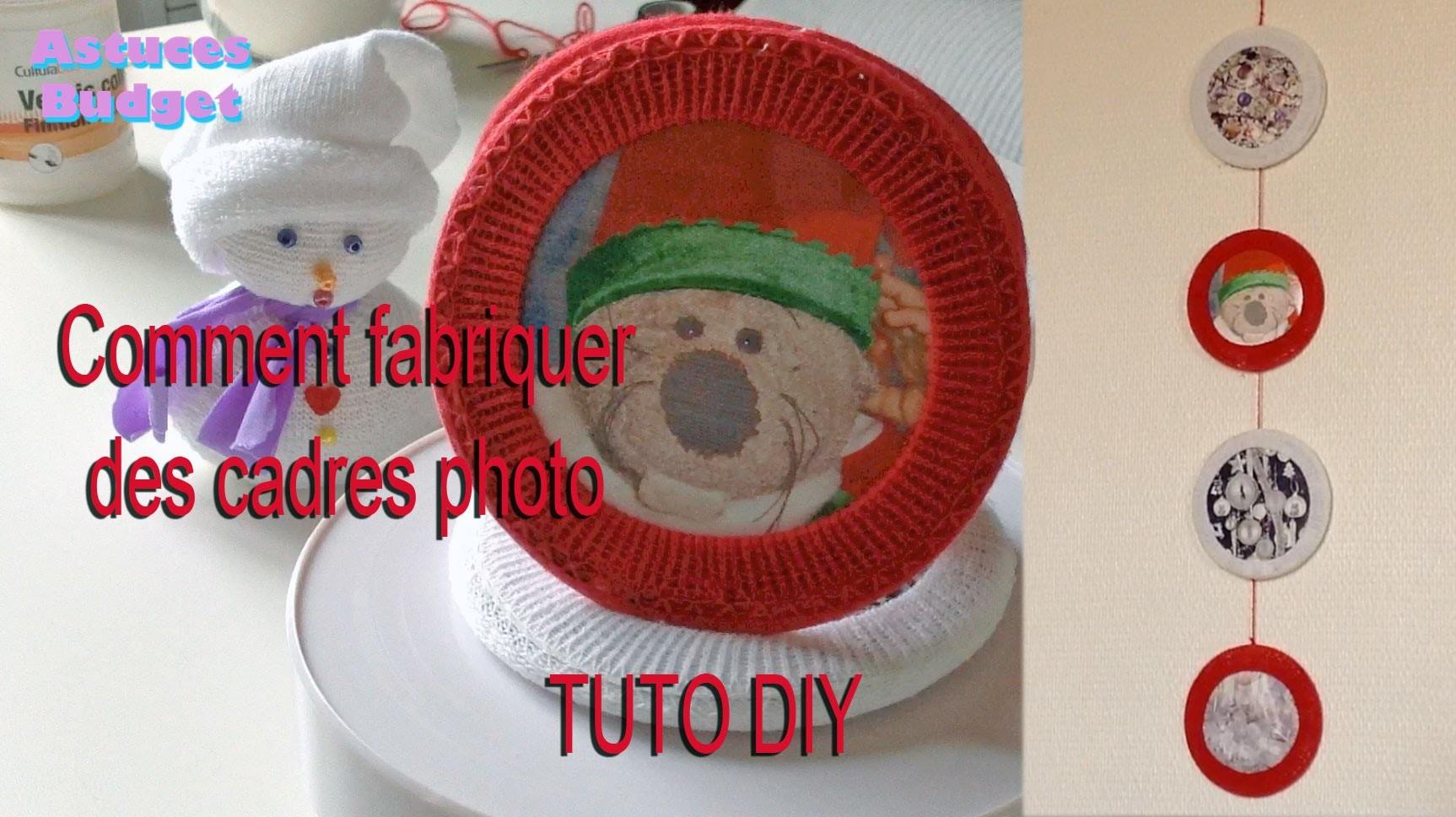 (TUTO DIY) comment fabriquer des cadres photo en recyclant des CD et chaussettes