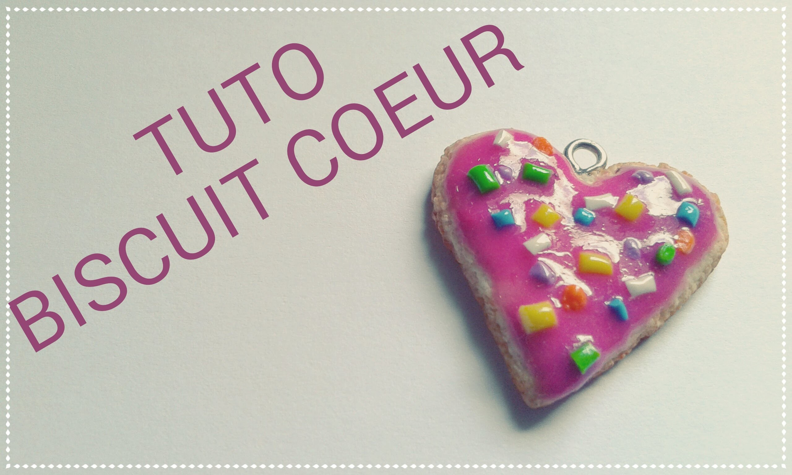 Tuto fimo: biscuit cœur - polymer clay tutorial heart biscuit