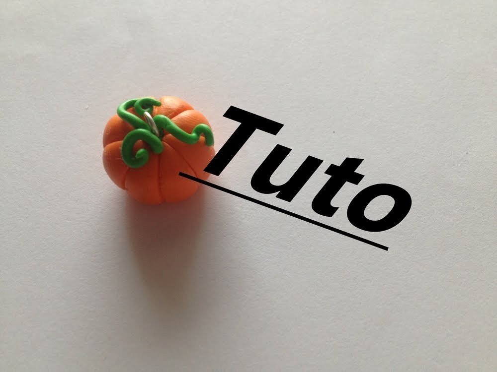 Tuto Fimo - Citrouille