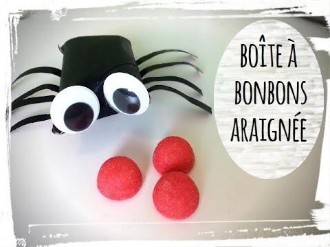 Diy halloween boite à bonbons araignée