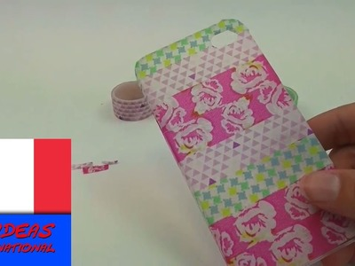 Étui pour téléphone portable DIY.Coque pour portable personnalisée avec du papier washi