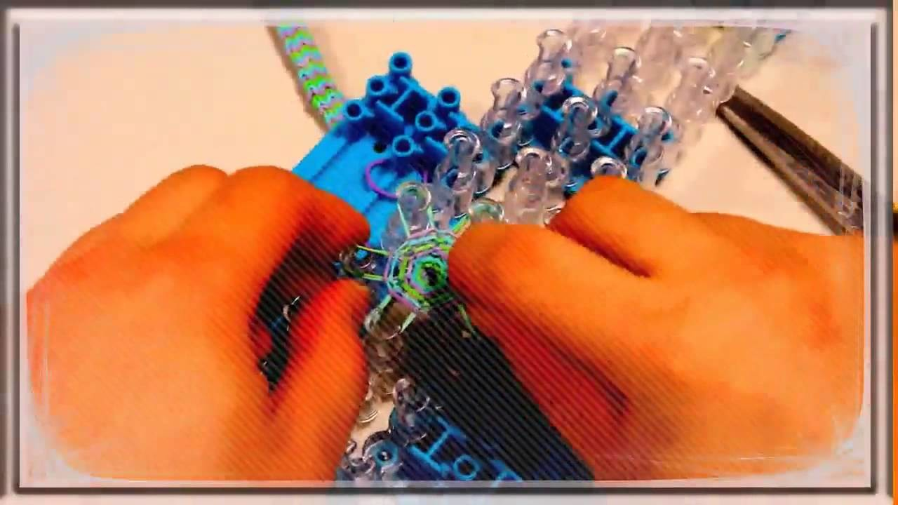 RainBow Loom Netherlands Clipping Ending the Hexafish HD 6 Pin Fishtail Bracelet Part 2 Tutorial R