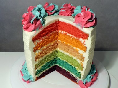 Recette du Rainbow cake (English subtitles) - William's Kitchen