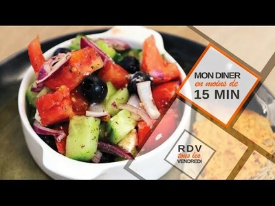 Salade grecque en moins de 15 minutes