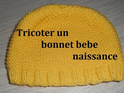 Tricoter un bonnet bébé naissance facilement