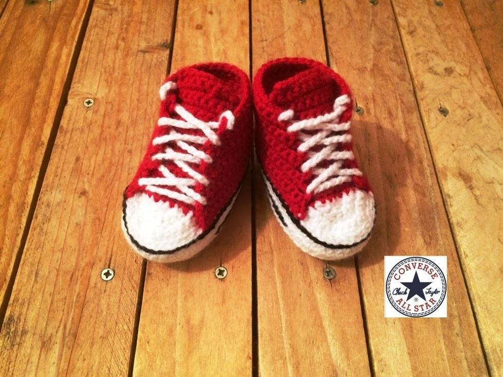 Tuto crochet: Converse chaussures bébé 2. zapatitos all stars crochet 2