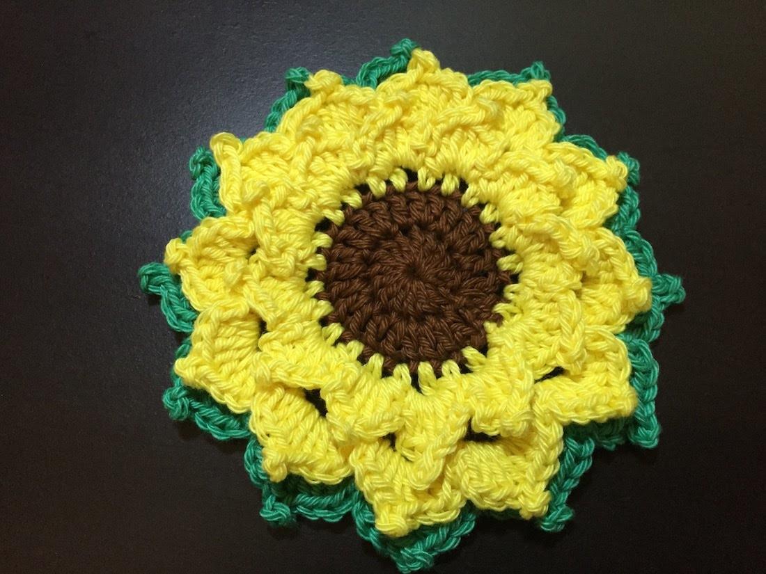Tuto facile fleure tournesol au crochet