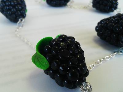 Tuto fimo : mûre - polymer clay tutorial blackberry