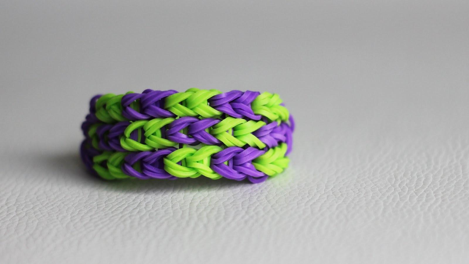 DIY # Bracelet chevrons en élastiques Rainbow Loom