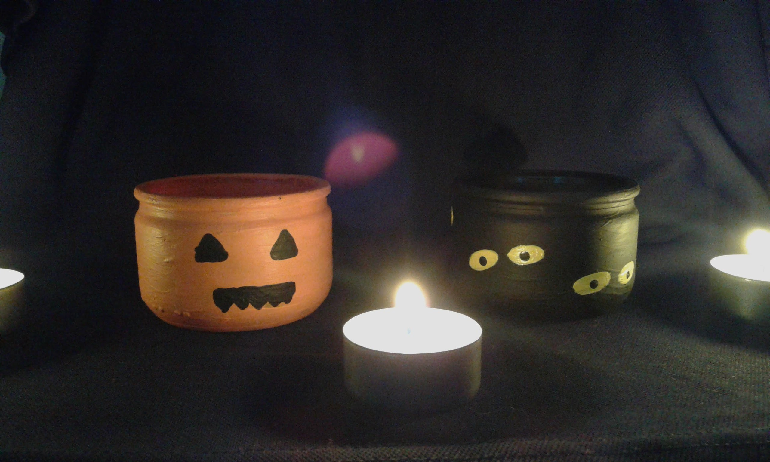 DIY halloween petit pot