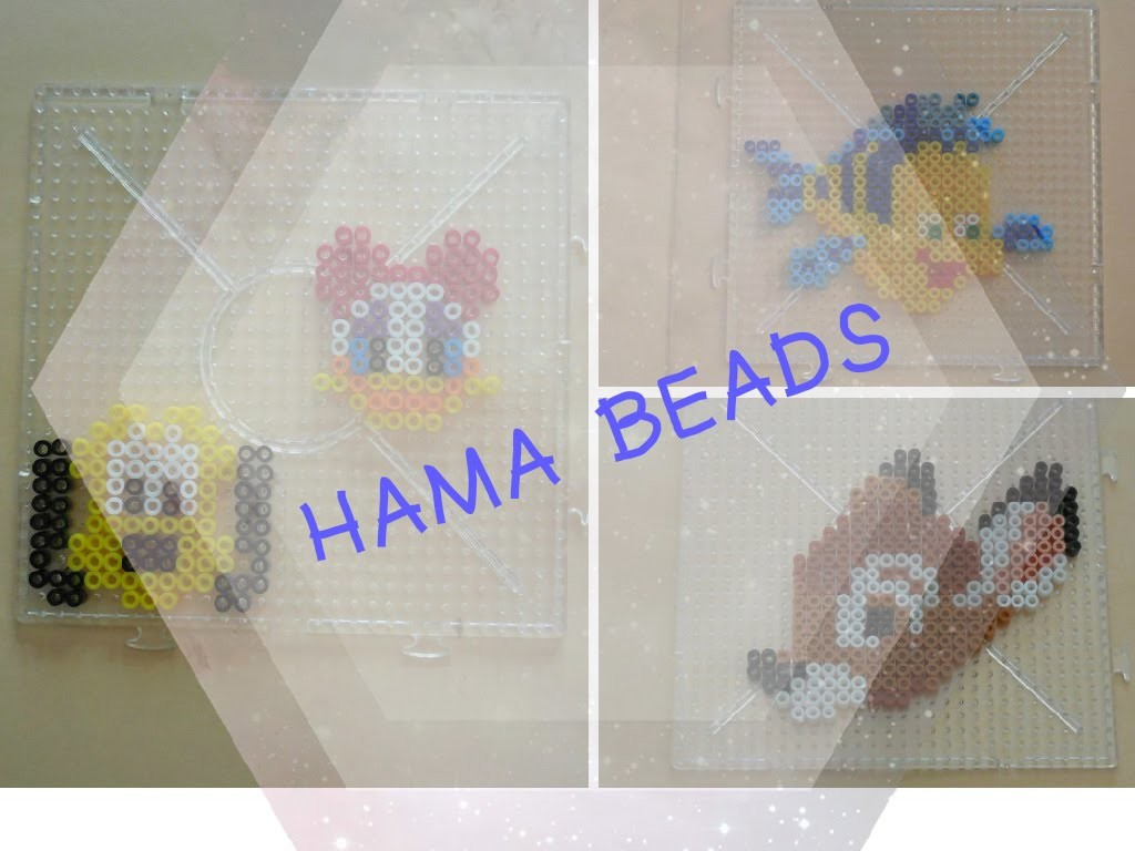[ DIY ] Hama beads. Perles à repasser (Daisy - Pluto - Bambi - Polochon)