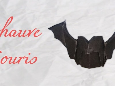 Origami ! Chauve souris - Bat Halloween paper [ DIY ]