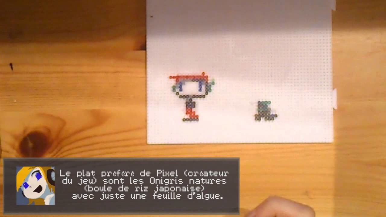 Pixel Art - Perler Cave Story (Quote + Misery)
