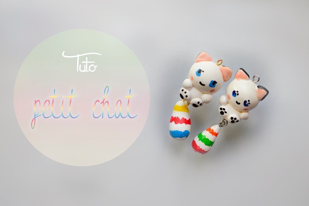 "Polymer Clay : Tuto ""Petit chat"""