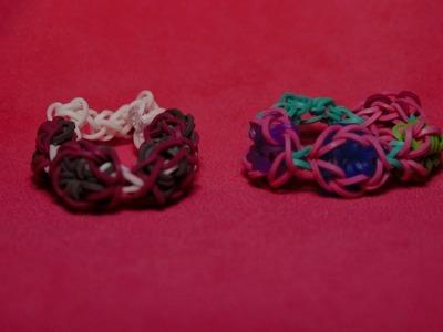 Rainbow loom bracelet en forme de fleur ou d'étoile