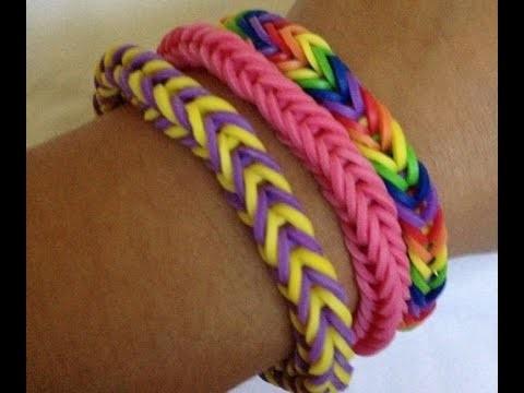Rainbow Loom Bracelets Normals avec les doigts