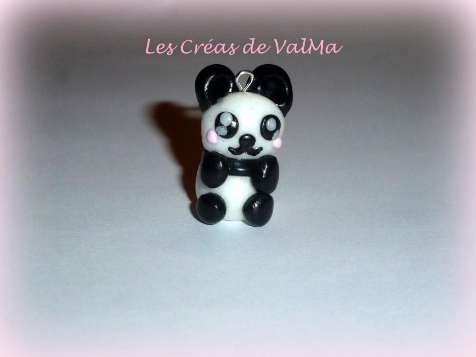 Tuto Fimo panda.Polymer clay Tutorial