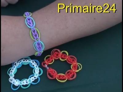 Bracelet en élastiques Anneaux de Saturne DIY tutoriel en français