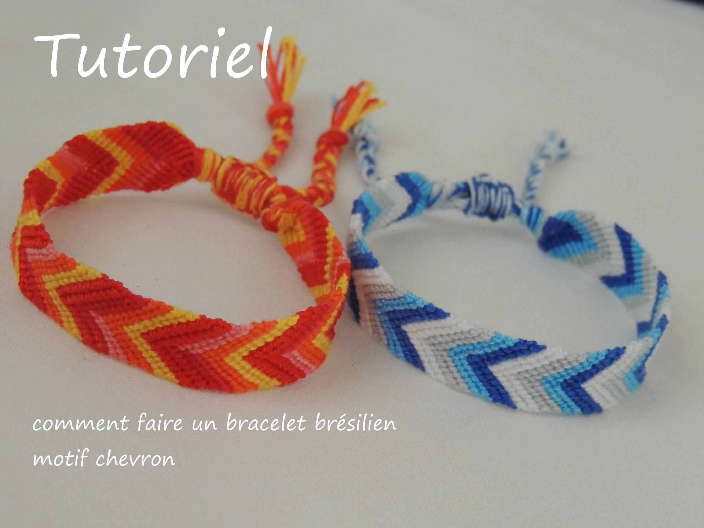 Comment faire un bracelet brésilien motif chevron (DIY chevron friendship bracelet)