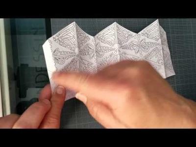 Kaléidoscope paper toy jouet de papier à colorier