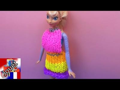 La princesse Elsa reçoit une robe en laine d'Eva! Rainbow Loom Dress
