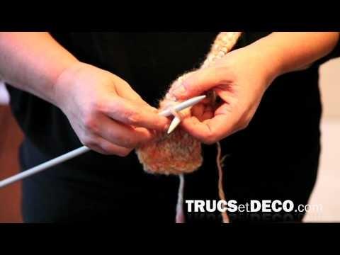 Maille à l'envers en tricot - Tutoriel par Trucsetdeco