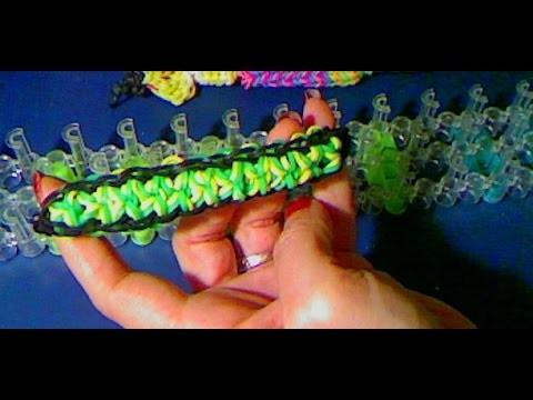 Rainbow loom francais bracelet fleur éclatée (bloom burst loom band)