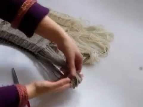 {Tricot} Gradient - l'écharpe : ouvrir l'écharpe et créer les franges