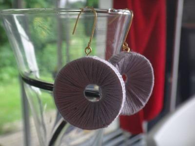 Tuto boucles d'oreilles bouchon et laine diy