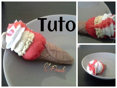 Tuto fimo glace 2 parfums. polymer clay freeze 2 flavors