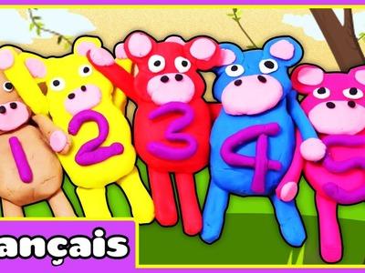 5 petits singes en pâte à modeler | Play Doh 5 Little Monkeys