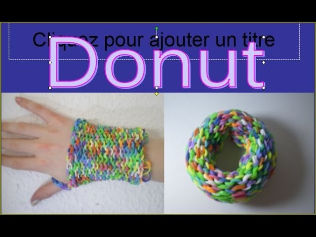 Bracelet-donut-chouchou en Rainbow Loom