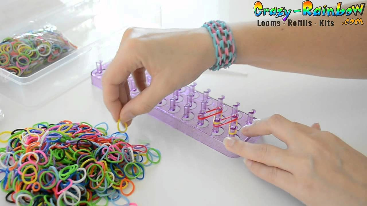 Creation bracelet rainbow loom simple
