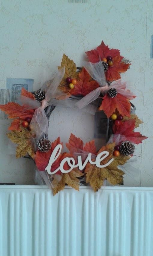 Diy : Couronne d'automne