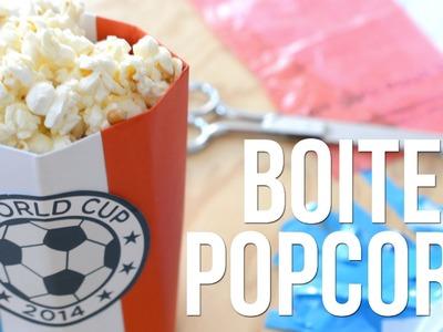 DIY - Faire une boite à PopCorn - Kit du Supporter