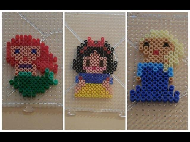 [ DIY ] Princesses Disney en perles à repasser -  Perler beads Hama #1