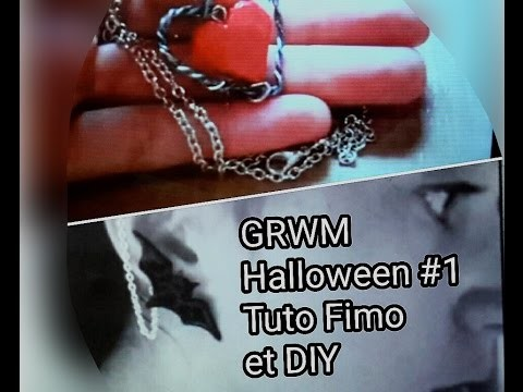 [GRWM Halloween #1] Tuto Fimo et DIY