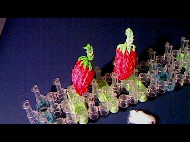 Rainbow loom francais une fraise (loom band)