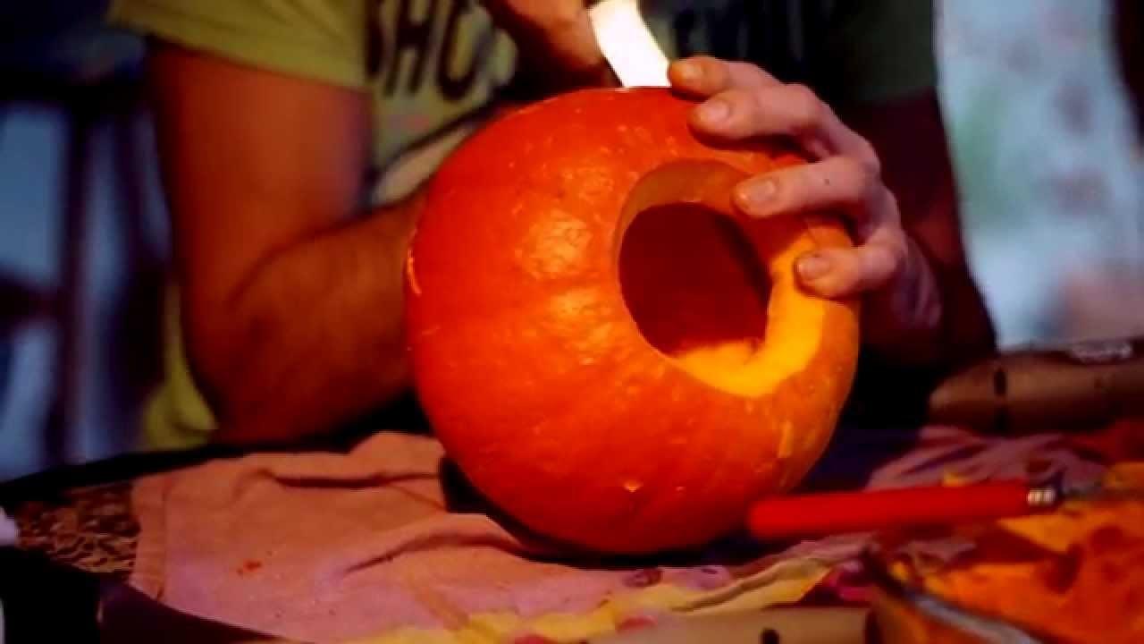 Sculpter une citrouille pour halloween - DIY pumpkin