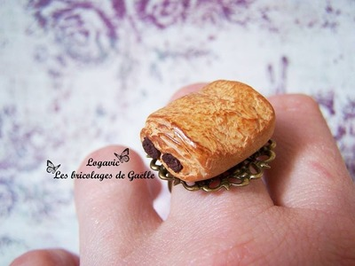 Tuto Fimo : le pain au chocolat - Polymer Tutorial chocolate croissant