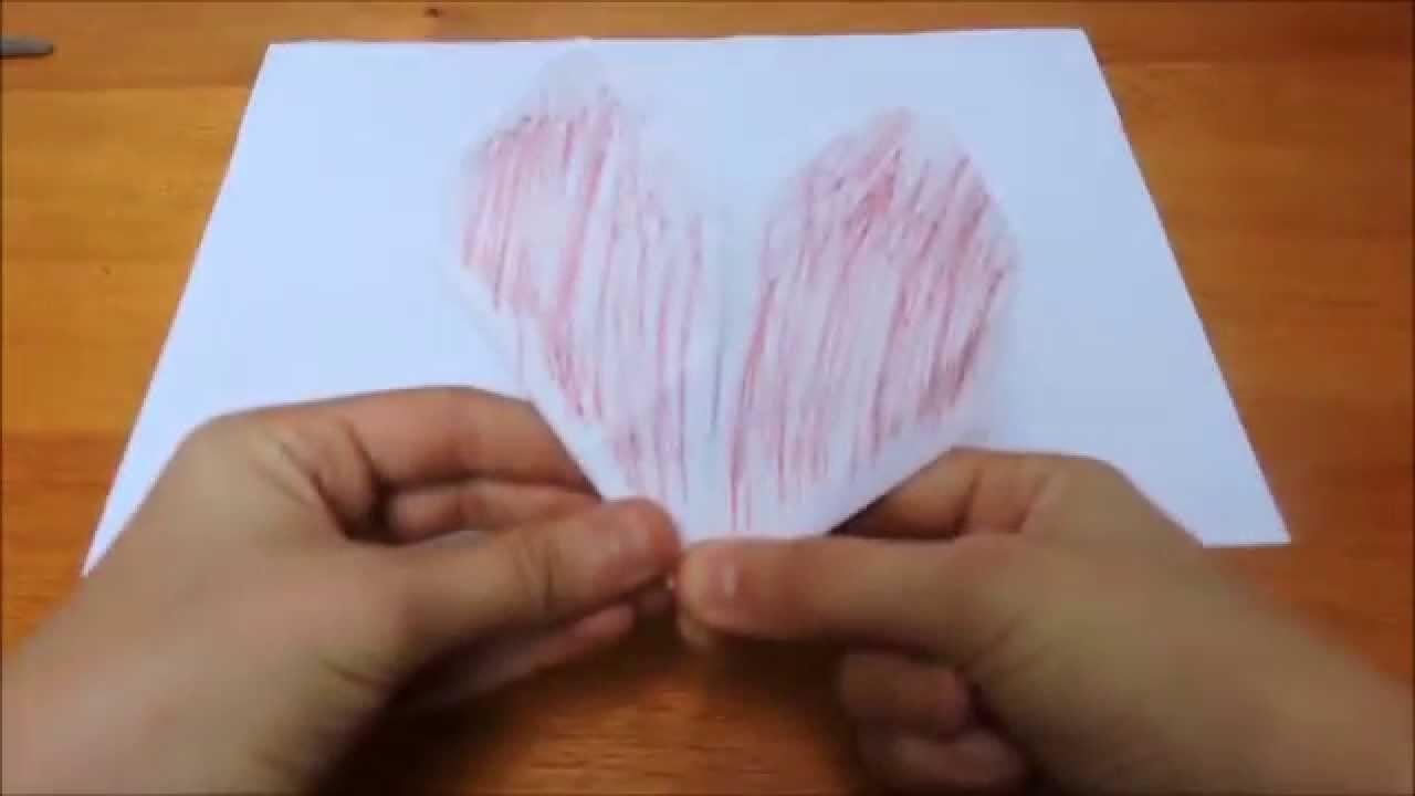 TUTO Origami : cœur facile ( heart easy )