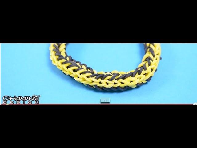 Tutoriel Finger Loom de Rainbow Loom : Bracelet Duo