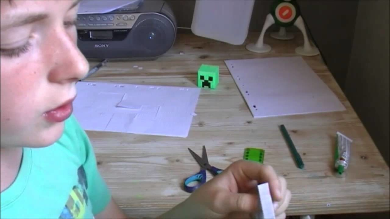Comment réaliser un creeper en Paper Toys