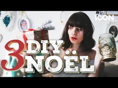 ∞DIY∞ 3 IDÉES DÉCO POUR NOËL (avec Natacha Birds)